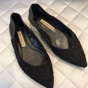 Black sparkly flats